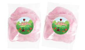 Lady Bug Personalised Bags Of Fairy Floss