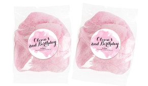 A Splash Of Watercolour In Pink Personalised Bags Of Fairy Floss
