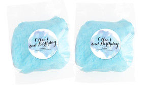 A Splash Of Watercolour In Blue Personalised Bags Of Fairy Floss