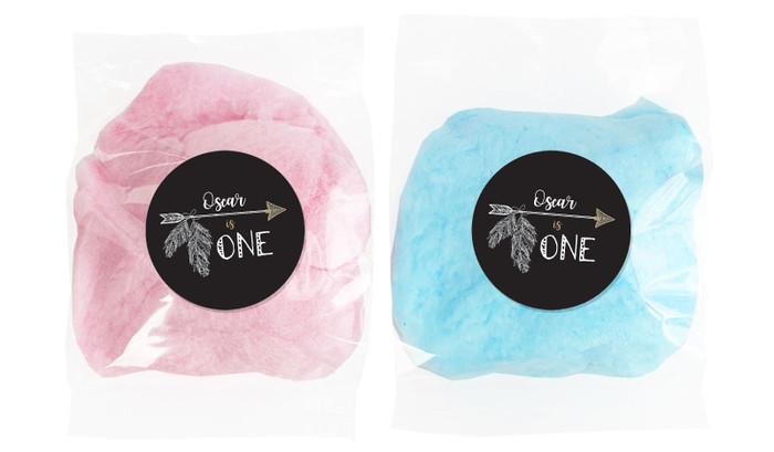 Boho Arrow Personalised Bags Of Fairy Floss