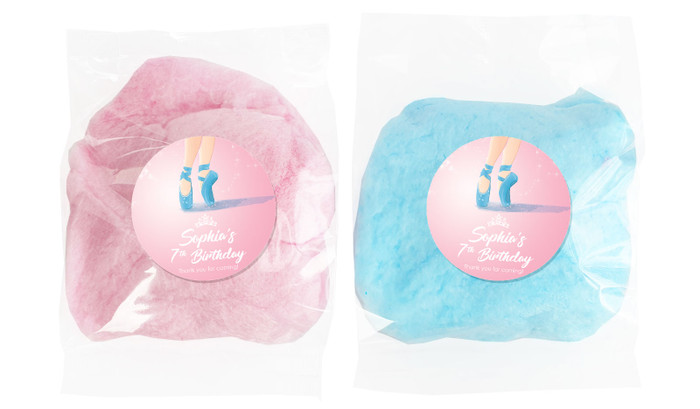 Ballet Shoes Personalised Bags Of Fairy Floss