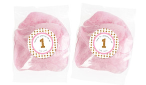 Gold Stars Personalised Bags Of Fairy Floss