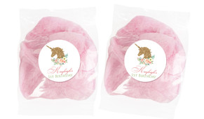 Golden Unicorn Personalised Bags Of Fairy Floss