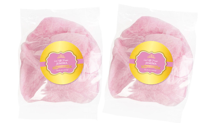 Little Princess Personalised Bags Of Fairy Floss