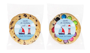Boats At Sea Personalised Birthday Cookie