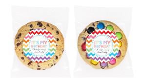 Chevron Rainbow Personalised Birthday Cookie