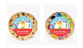 Circus Animals Personalised Birthday Cookie