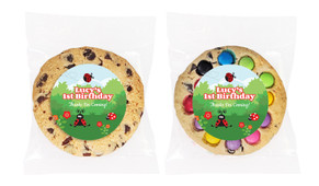 Lady Bugs Personalised Birthday Cookie