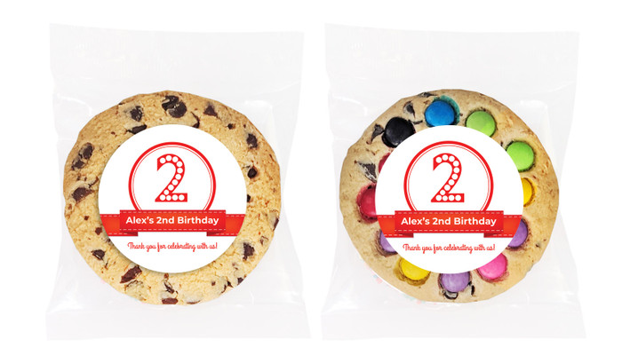 Number In Red Personalised Birthday Cookie