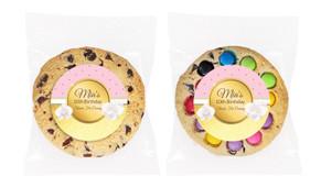 Pink & Gold Personalised Birthday Cookie