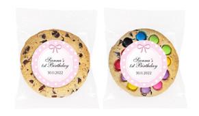 Polkadot Pink Personalised Birthday Cookie