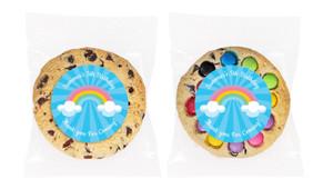 Rainbow Personalised Birthday Cookie