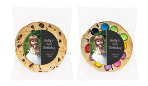Chalkboard Photo Personalised Birthday Cookie