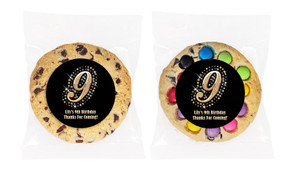 Golden Number Personalised Birthday Cookie