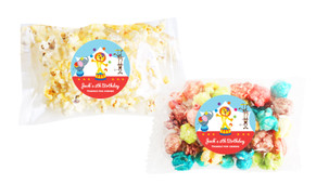 Circus Animals Popcorn Bags With Personalisation
