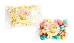Pink & Gold Popcorn Bags With Personalisation