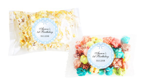 Polkadot Blue Popcorn Bags With Personalisation