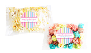Pastel Stripe Birthday Popcorn Bags With Personalisation