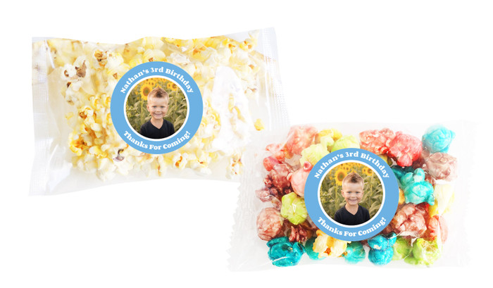 Add A Photo Boys Popcorn Bags With Personalisation