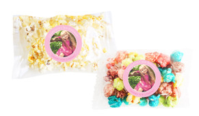 Add A Photo Pink Popcorn Bags With Personalisation