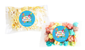 Happy Confetti Popcorn Bags With Personalisation