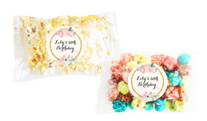 Spring Florals Popcorn Bags With Personalisation