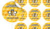 Bumble Bee Personalised 65mm Labels