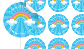 Rainbow Personalised 65mm Labels