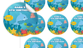 Under The Sea Personalised 65mm Labels