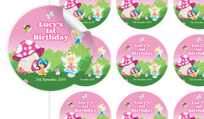 Fairy Garden Personalised 65mm Labels