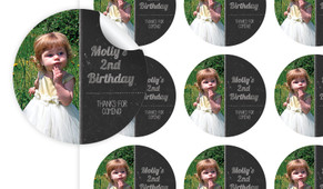 Chalkboard Photo Personalised 65mm Labels