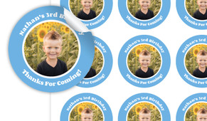 Add A Photo Boys Personalised 65mm Labels