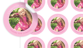 Add A Photo Girls Personalised 65mm Labels