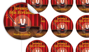 Magician Personalised 65mm Labels