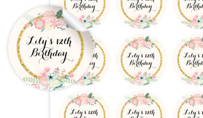 Spring Florals Personalised 65mm Labels