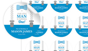 Little Man Personalised 65mm Labels