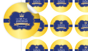 Little Prince Personalised 65mm Labels