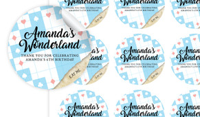 Alice In Wonderland Personalised 65mm Labels