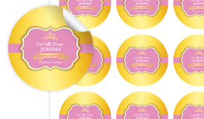 Little Princess Personalised 65mm Labels