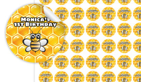 Bumble Bee Personalised 25mm Labels