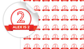 Numbers In Red Personalised 25mm Labels