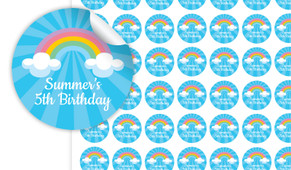 Rainbow Personalised 25mm Labels