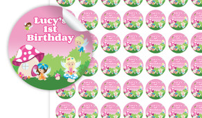 Fairy Garden Personalised 25mm Labels