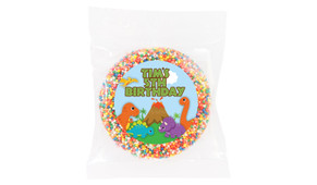 Dinosaur Personalised Giant Chocolate Freckle