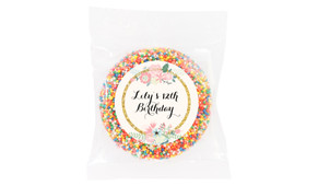 Spring Florals Personalised Giant Chocolate Freckle
