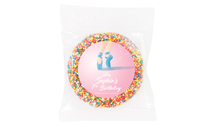 Ballet Shoes Personalised Giant Chocolate Freckle