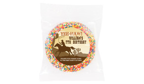 Cowboy Party Personalised Giant Chocolate Freckle