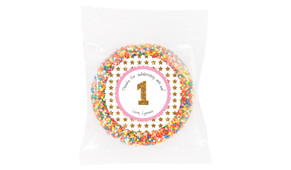 Gold Stars Personalised Giant Chocolate Freckle