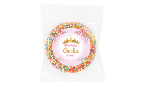 Princess Tiara Personalised Giant Chocolate Freckle