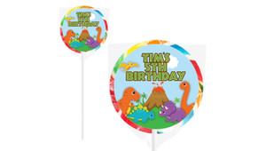 Dinosaur Birthday Personalised Lollipops